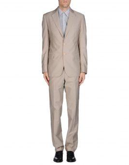 חליפת GF Ferre בצבע שמנת צד קדמי