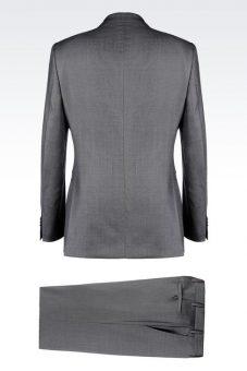 חליפה אפורה Giorgio Armani 49178013fb צד אחורי