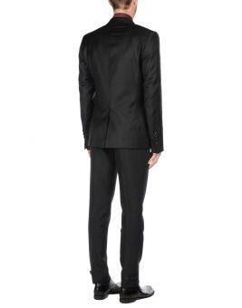 חליפת חתן שחורה מבית המותג JOHN GALLIANO מבט מאחור