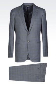 חליפת Giorgio Armani אפורה צד קדמי