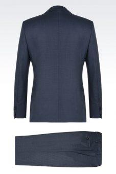 חליפת Giorgio Armani אפורה צד אחורי