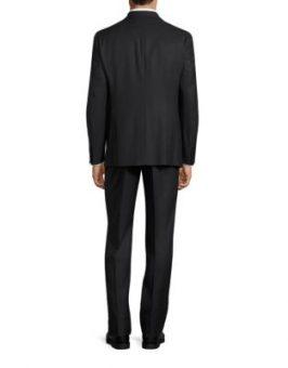 חליפת חתן calvin klein שחורה צד אחורי