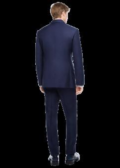חליפת חתן בצבע כחול כהה מבית המותג Versace מבט מאחור