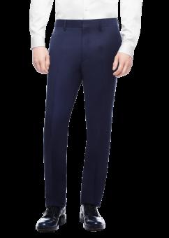 מכנסיים אלגנטיות בצבע כחול כהה מבית המותג Versace מבט מלפנים