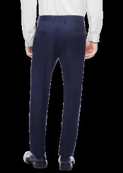 מכנסיים אלגנטיות בצבע כחול כהה מבית המותג Versace מבט מאחור