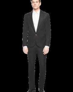 חליפת חתן שחורה מבית המותג Versace מבט מלפנים