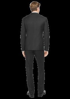 חליפת חתן שחורה מבית המותג Versace מבט מאחור