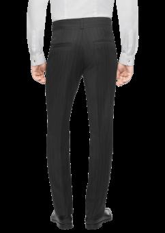 מכנסיים אלגנטיות שחורות מבית המותג Versace מבט מאחור