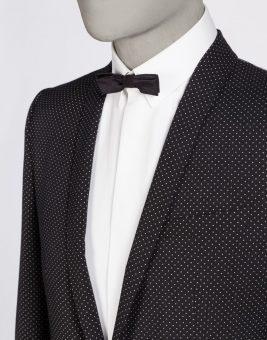 חליפת Dolce Gabbana שחורה מבט על הצווארון
