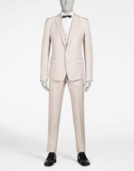 חליפת Dolce Gabbana צבע ורוד בהיר צד קדמי