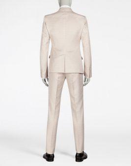 חליפת Dolce Gabbana צבע ורוד בהיר צד אחורי