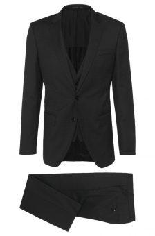 חליפת Hugo Boss שחורה מבט מלפנים