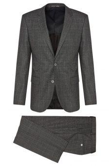 חליפה אפורה של חברת Hugo Boss מבט מלפנים